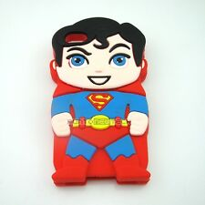Cover CUSTODIA per IPHONE 4 4S Silicone 3D SUPERMAN SUPEREROI