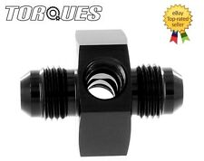 "AN -6 (AN6) Male-Male Union Twin 1/8"" NPT Gauge/ Sensor Side Port Adapter Black"
