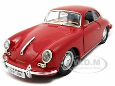1961 PORSCHE 356 B COUPE RED 1:24 DIECAST MODEL CAR BY BBURAGO 22079