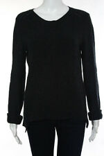 Inhabit Charcoal Gray Cashmere V Neck Sweater Size Large