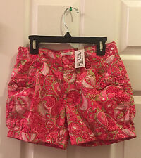 NWT The Children's Place Girls 12 Pink Paisley Floral Shorts Adj. Waistband New