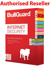 SEALED BullGuard 2017 Internet Security 3 PC Users 1 Year - Genuine Item Posted
