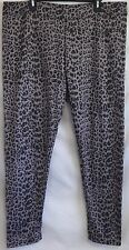 New Plus Size 1X 16W Animal Print Pull-On Stretch Lined Leggings Pants 1XL NWOT