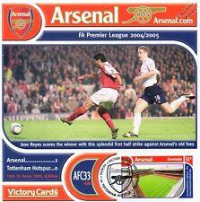 Arsenal 2004-05 Tottenham (Jose Reyes) sello de fútbol tarjeta de la victoria #433