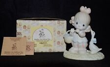 PRECIOUS MOMENTS ~WADDLE I DO WITHOUT YOU ~ 12459 ~ BOW & ARROW MIB CLOWN SERIES