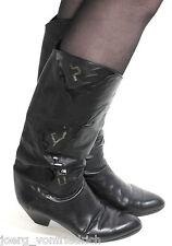 Lederstiefel Vintage Damenstiefel Stiefel Elegant Lackleder Silber Maripé 38
