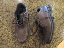 Rockport 11 1/2 Brown World Tour mens Pebbled Leather Walking Comfort K70884