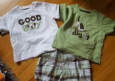 Gymboree 12-18 month 3 piece set outfit boys dog pup short sleeve shorts