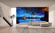 Underground Cave Cavern Lake Night Wall Mural Photo Wallpaper GIANT WALL DECOR