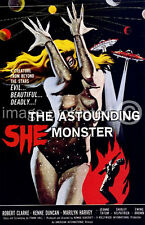 The Astounding She Monster Vintage Movie Poster  18x24