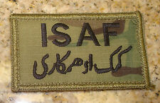 USAF PATCH ,ISAF,GREEN USAF BORDER,MULTI-CAM, WITH VELCRO