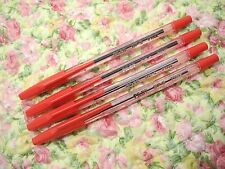 4pcs PILOT BP-S 0.7mm fine ball point pen /with cap RED ink(Japan)