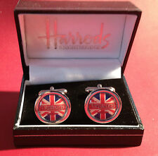 TRIUMPH MOTORCYCLES HIGH QUALITY GOLD & SILVER PLATED CUFF LINKS IN HARRODS BOX