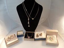 Lot of 7 Vintage Avon Jewelry Mixed Lot - Original Boxes Unworn