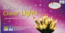 The Benross Christmas Workshop 80 Musical Chaser Lights, Clear