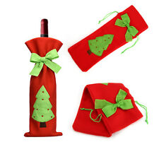 Red Wine Bottle Cover Bags Red Santa Tree Xmas Dinner Party Gift Christmas Decor