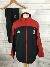 Mens Adidas AC Milan Tracksuit - XXL - Black & Red - Great Condition
