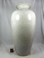 Große formschöne Karlsruher Majolika Keramik Vase Craquelé Glasur  5062  59 cm