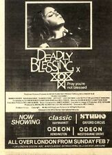 "6/2/82PGN18 MOVIE ADVERT 5X3"" DEADLY BLESSING"