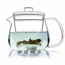 500mL Heat Resistant Glass Teapot with Infuser Coffee Flower Leaf Herbal Tea Pot