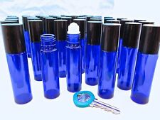 50, Cobalt Glass roll-ons UV-Protect Bottle fragrance essential oil aromatherapy