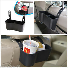 Black Dual Function Vehicles Seat Back Food Bottle Storage Holder Drink Box Cup