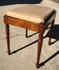 Vintage Walnut Singer Sewing Machine Cabinet Bench Seat Stool, Style 56, VGC