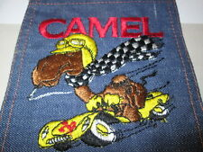 CIGARETTE ADVERTISING PATCH LARGE EMBROIDERED ON JEAN POCKET CAMEL COLORFUL