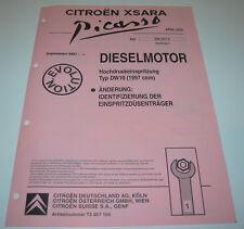 Werkstatthandbuch Citroen Xsara Picasso Diesel Motor DW10 Hochdruckeinspritzung!