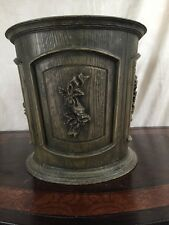 COOL Vintage 1960's Max Klein FAUX WOOD Plastic Waste Basket Trash Can