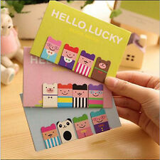 1 Set 4 Pcs Bookmarks Note Pad Memo Stationery Book Mark Novelty Funny Gift 2016