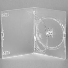 25 x  Genuine Amaray Double DVD Clear Case with Single Tray 14mm Spine - NEW UK
