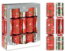 Luxury Christmas Crackers 10x12'' Wedding Party Bag Stocking Filler Gifts Red
