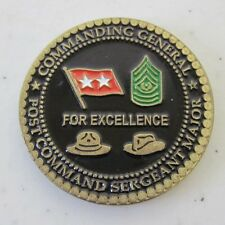 US Military Coin Commanding General Post Command Seargent Major Gently Used