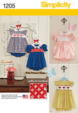 Simplicity Pattern 1205 Babies' Dress and Panties baby clothes patterns infants