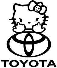 2X (PAIR)LARGE HELLO KITTY Truck Car Vinyl Decal Window Sticker for TOYOTA