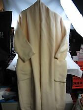 Woman's MERLE CHICAGO vintage Wool Coat Ivory Buttercream Boiled Wool S/M