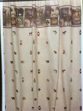 Northwoods Bear Mountain Lodge Camping Trip Woodland Bathroom Shower Curtain