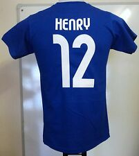 FRANCE RETRO HENRY 12 FOOTBALL TEE SHIRT ADULTS SIZE SMALL BRAND NEW