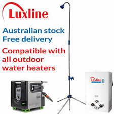 Luxline Outdoor Shower Head and Stand Portable Camping for Hot Water