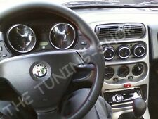 Fits Alfa GTV Spider Dash Gauge Surrounds Alloy Rings x5 Polished Aluminium