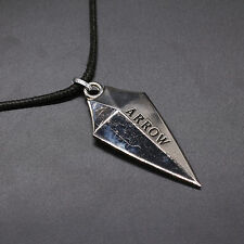 New Arrow Oliver Queen Design Metal Necklace Keychain Silver Color