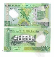 Gambia 20 Dalasis, 2014 (2015), Polymer, P-New UNC Commemorative