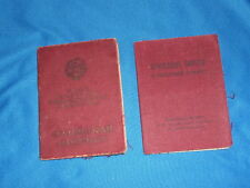1944 Soviet russian document ww2 Order book Red Star Battle Merit Bravery