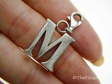 """Letter """"M"""" Dangle Charm Sterling Silver with Lobster Clasp Vintage"""