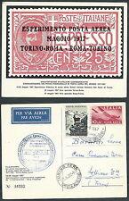 1967 ITALIA CARTOLINA CINQUANTENARIO FRANCOBOLLO POSTA AEREA ROMA TORINO - C