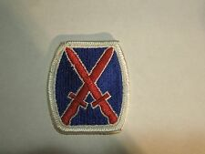 US Army 10th Infantry Division 10th Mountain Embroidered Crossed Bayonets Patch