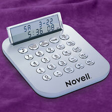 Metal see thru LCD display Calculator,Alarm/Clock,World Currency Converter*