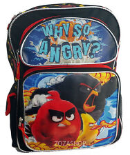 "Angry Birds 16"" Large Boy Backpack New School Bag Licensed"