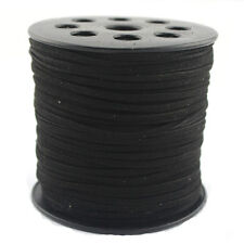 10 Yards  Black Faux Suede Cord Leather Lace Jewelry Making Beading Thread